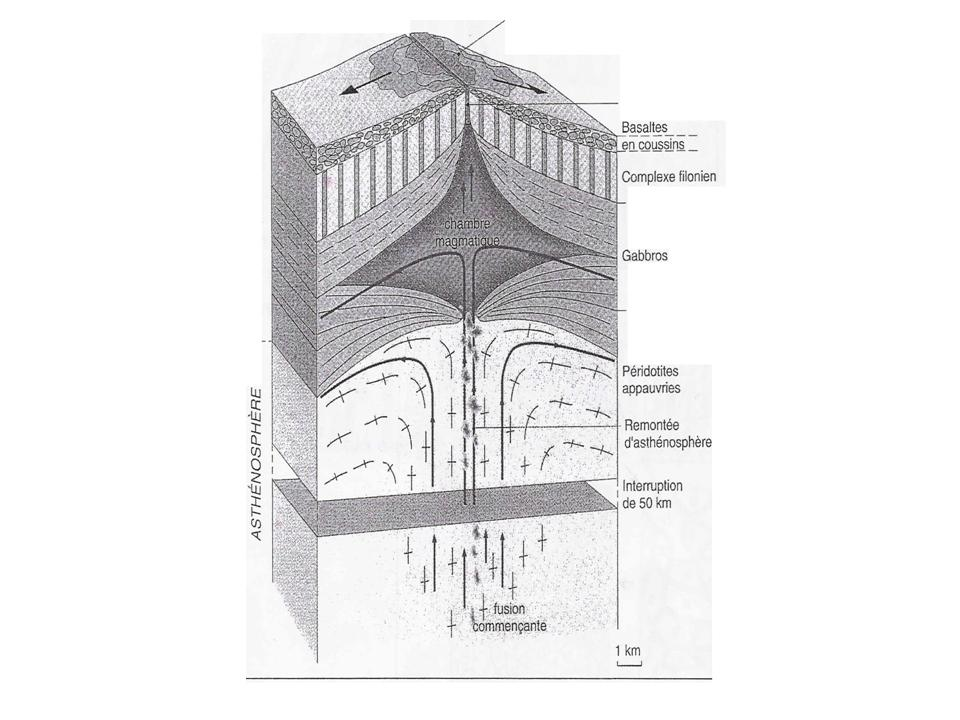 Relation entre gabbro et p ridotite l volution de la for Chambre magmatique